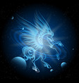 luminous pegasus in space vector image