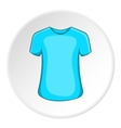 Men summer t-shirt icon cartoon style vector image vector image