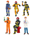 Men with different professions vector image vector image