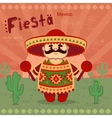 Mexican men on a retro background vector image vector image