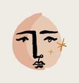 modern abstract face art scandinavian vector image