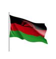 national flag of malawi vector image