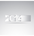 New year 2014 tittle vector image vector image