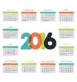 New year calendar schedule vector image