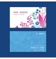pink flowers horizontal corner frame vector image