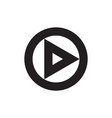 play button icon web music or video play vector image vector image
