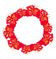 red canna lily wreath vector image vector image