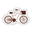 retro bicycle isolated icon vector image vector image