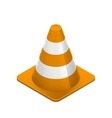 Road cone on white vector image