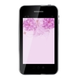 Romantic Flower Background on abstract design vector image vector image