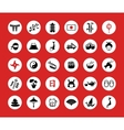 Set of flat design Japanese icons vector image vector image