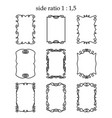 Set of rectangular outline frames isolated