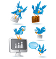 social media network bluebird vector image