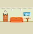 sofa orange living room interior vector image vector image
