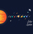 solar system set star and vector image