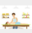 spa center young woman having rejuvenating vector image vector image