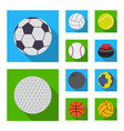 sport and ball sign vector image vector image
