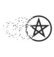 star pentacle disintegrating pixel icon vector image vector image