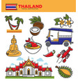 thailand tourism travel landmarks and thai culture vector image vector image