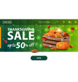 thanksgiving sale up to 50 off modern green vector image
