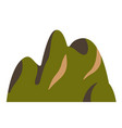 top mountain china hill peaks logo silhouette vector image vector image