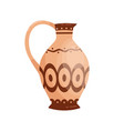 traditional antique greek jug with handle vector image vector image