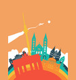 travel germany world landmark landscape vector image vector image