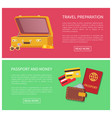 travel preparation web pages vector image vector image