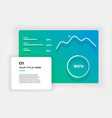 ui kit icons infographic templates for business vector image