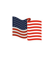 united states flag waving in colorful silhouette vector image vector image