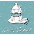 Winter Xmas Postcard vector image vector image