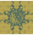 with lion and baroque ornaments in Victorian style vector image vector image
