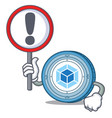 with sign webpack coin character cartoon vector image vector image