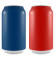 aluminum can of the empty layout for your design vector image