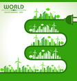 world environment day greeting vector image