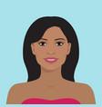 beautiful woman avatar vector image