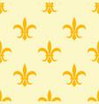 seamless golden pattern with fleur de lis vector image