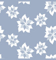 seamless pattern with abstract blue flowers vector image