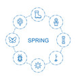 8 spring icons vector image vector image