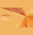 abstract background orange modern wallpaper vector image vector image