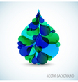 abstract water vector image vector image