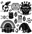 ancient american pattern vector image vector image