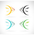 angel fish design on white background easy vector image
