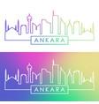 ankara skyline colorful linear style editable vector image vector image