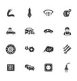 auto icons set vector image