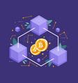 blockchain technology concept vector image vector image