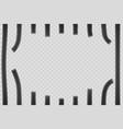 broken metal bars window in prison vector image