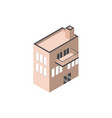 building urban architecture balcony isometric vector image