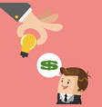 businessman with big idea vector image