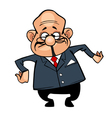 Cartoon character the director bald man in a suit vector image